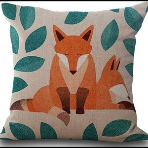 Other - Fox pillow cover case linen woodland nursery couch